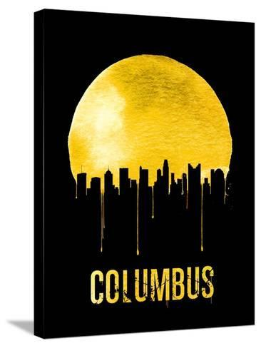 Columbus Skyline Yellow--Stretched Canvas Print
