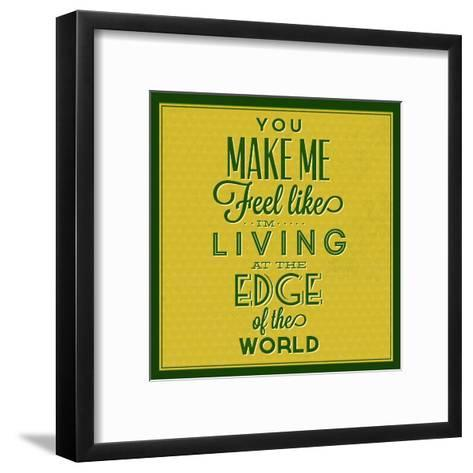 Living at the Edge 1-Lorand Okos-Framed Art Print