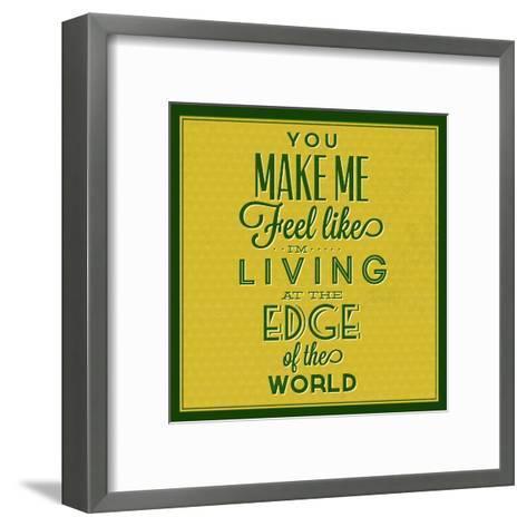 Living at the Edge 1-Lorand Okos-Framed Art Print