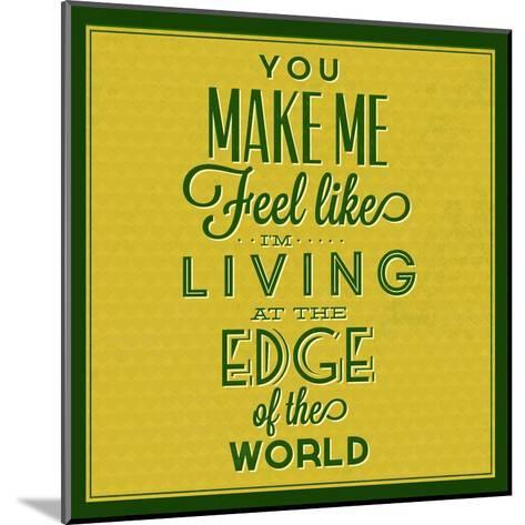 Living at the Edge 1-Lorand Okos-Mounted Art Print