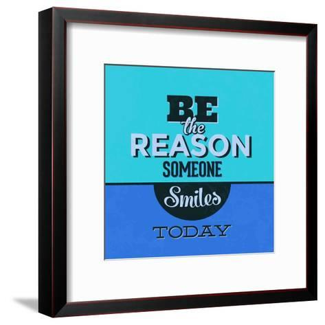 Be the Reason Someone Smiles Today 1-Lorand Okos-Framed Art Print
