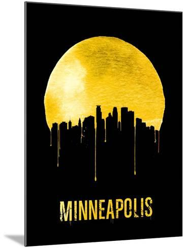 Minneapolis Skyline Yellow--Mounted Art Print