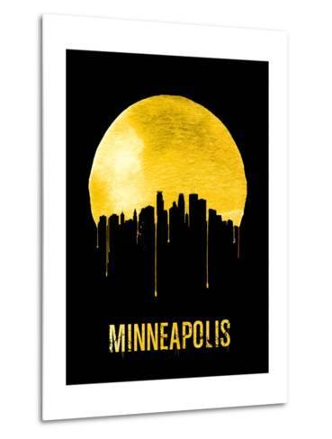 Minneapolis Skyline Yellow--Metal Print