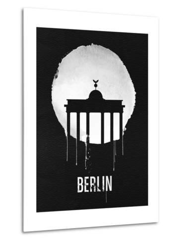 Berlin Landmark Black--Metal Print