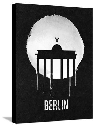 Berlin Landmark Black--Stretched Canvas Print