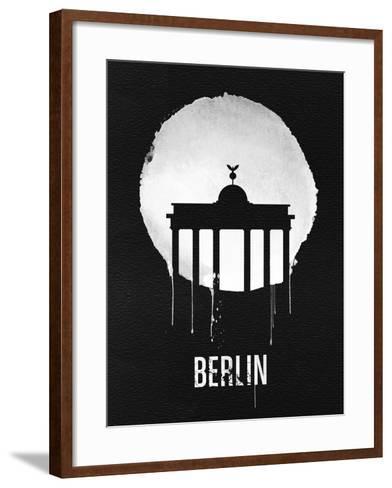Berlin Landmark Black--Framed Art Print