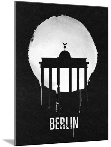 Berlin Landmark Black--Mounted Art Print