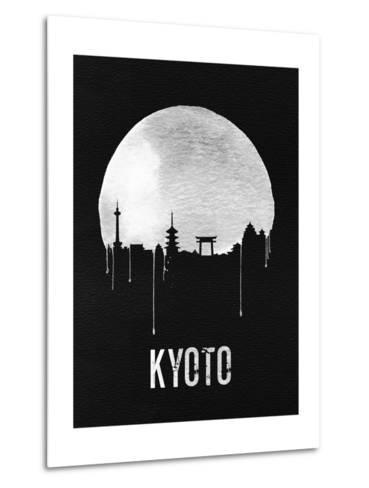 Kyoto Skyline Black--Metal Print