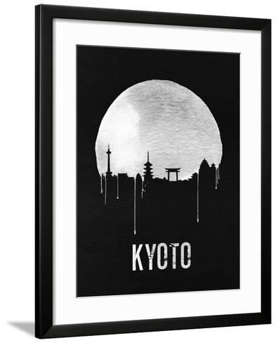 Kyoto Skyline Black--Framed Art Print