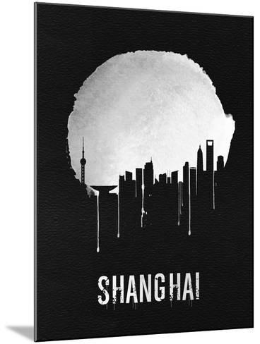 Shanghai Skyline Black--Mounted Art Print