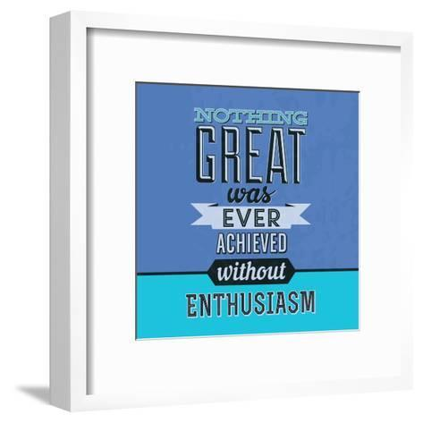 Enthusiasm 1-Lorand Okos-Framed Art Print