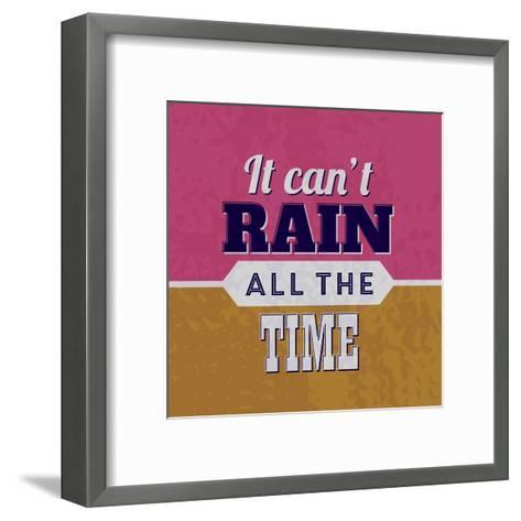 It Can't Rain All the Time 1-Lorand Okos-Framed Art Print
