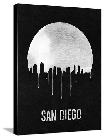 San Diego Skyline Black--Stretched Canvas Print