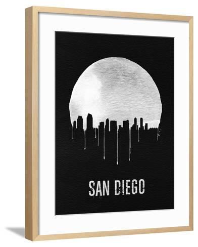 San Diego Skyline Black--Framed Art Print