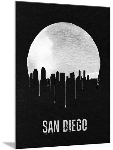 San Diego Skyline Black--Mounted Art Print