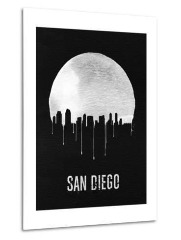 San Diego Skyline Black--Metal Print