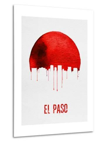 El Paso Skyline Red--Metal Print
