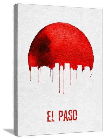 El Paso Skyline Red--Stretched Canvas Print