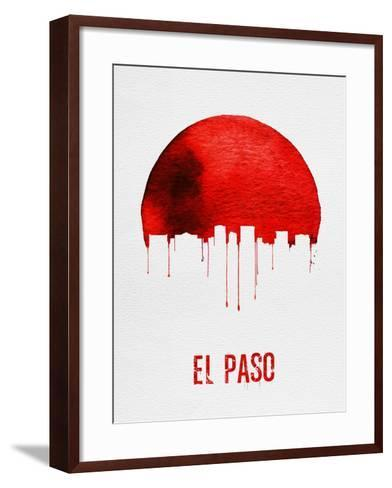 El Paso Skyline Red--Framed Art Print