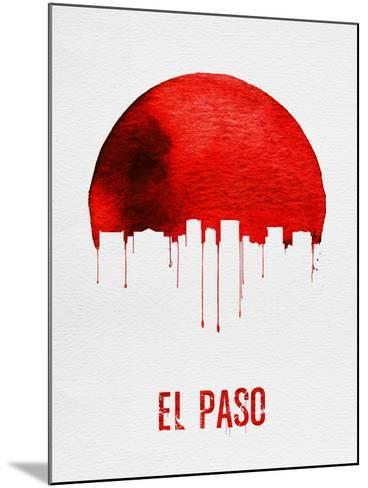 El Paso Skyline Red--Mounted Art Print