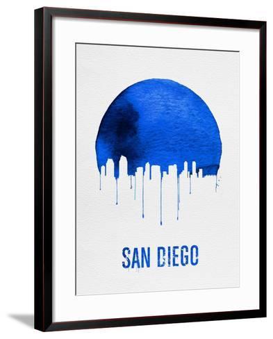 San Diego Skyline Blue--Framed Art Print