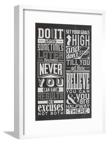 Motivational Set Black-Vintage Vector Studio-Framed Art Print