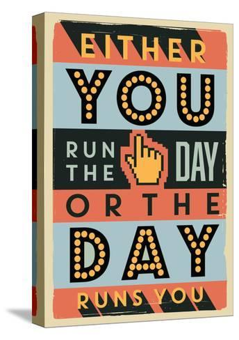 Run the Day-Vintage Vector Studio-Stretched Canvas Print