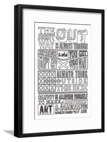 Creativity Set White-Vintage Vector Studio-Framed Art Print