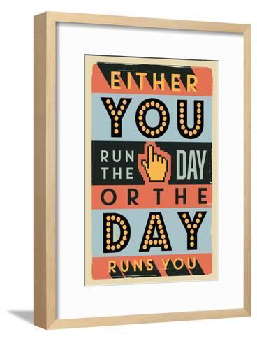 Run the Day-Vintage Vector Studio-Framed Art Print
