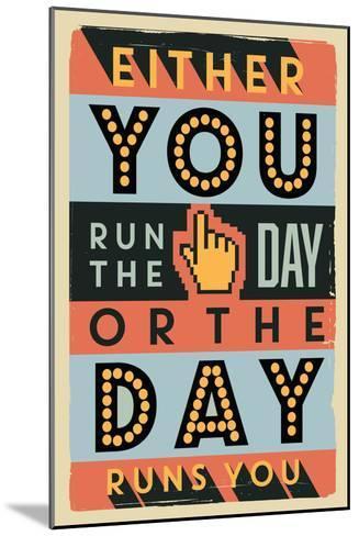 Run the Day-Vintage Vector Studio-Mounted Art Print
