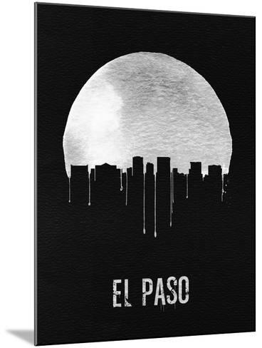 El Paso Skyline Black--Mounted Art Print