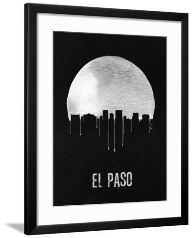 El Paso Skyline Black--Framed Art Print