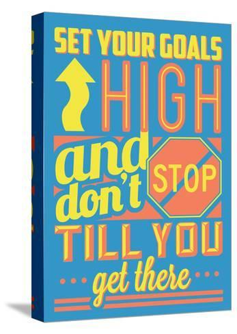 Set Your Goals High-Vintage Vector Studio-Stretched Canvas Print