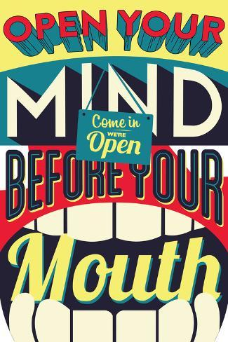 Open Your Mind-Vintage Vector Studio-Stretched Canvas Print