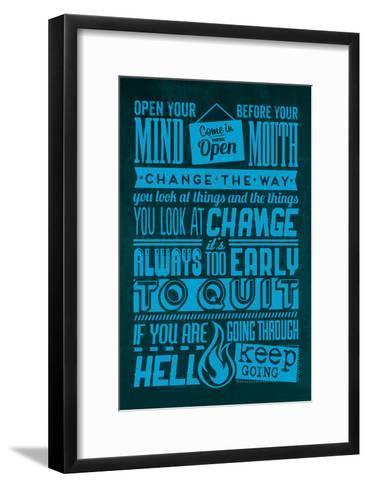 Action Set Blue-Lorand Okos-Framed Art Print
