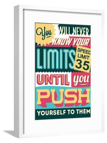 Push Yourself to Your Limits-Vintage Vector Studio-Framed Art Print