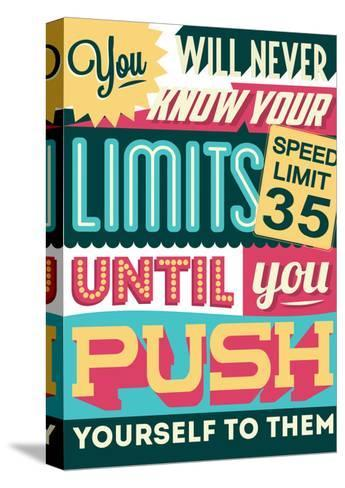 Push Yourself to Your Limits-Vintage Vector Studio-Stretched Canvas Print