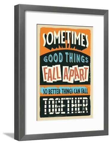 Better Things Can Fall Together-Vintage Vector Studio-Framed Art Print