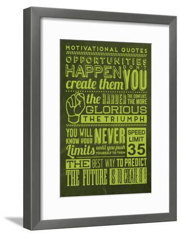 Opportunities Set Yellow-Lorand Okos-Framed Art Print