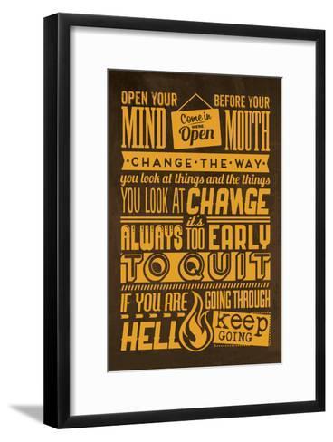 Action Set Yellow-Lorand Okos-Framed Art Print