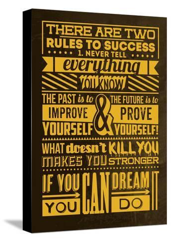 Success Set Yellow-Lorand Okos-Stretched Canvas Print