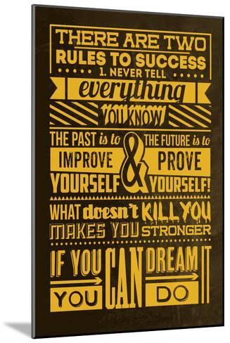 Success Set Yellow-Lorand Okos-Mounted Art Print
