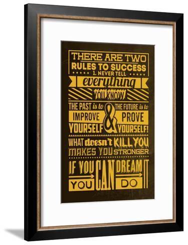 Success Set Yellow-Lorand Okos-Framed Art Print