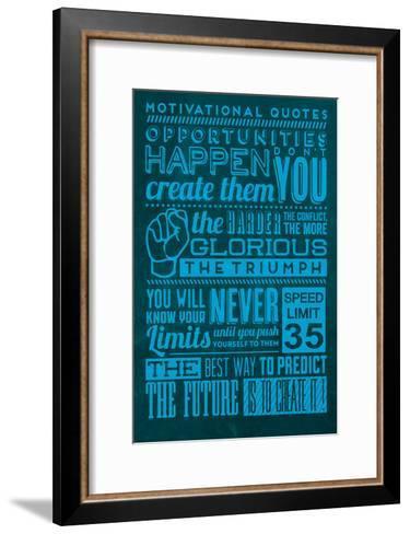 Opportunities Set Blue-Lorand Okos-Framed Art Print