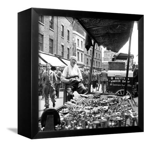Leather Lane in Holborn. Circa 1954-Staff-Framed Canvas Print