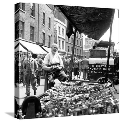 Leather Lane in Holborn. Circa 1954-Staff-Stretched Canvas Print