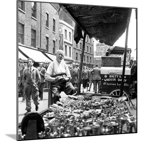 Leather Lane in Holborn. Circa 1954-Staff-Mounted Photographic Print