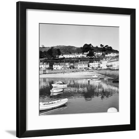 View of Gorey Harbour on the Island of Jersey, 1965-Staff-Framed Art Print