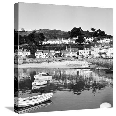 View of Gorey Harbour on the Island of Jersey, 1965-Staff-Stretched Canvas Print