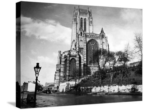 Liverpool Cathedral-Liverpool Post Echo Archive-Stretched Canvas Print